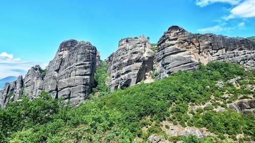 mountain formations in athens