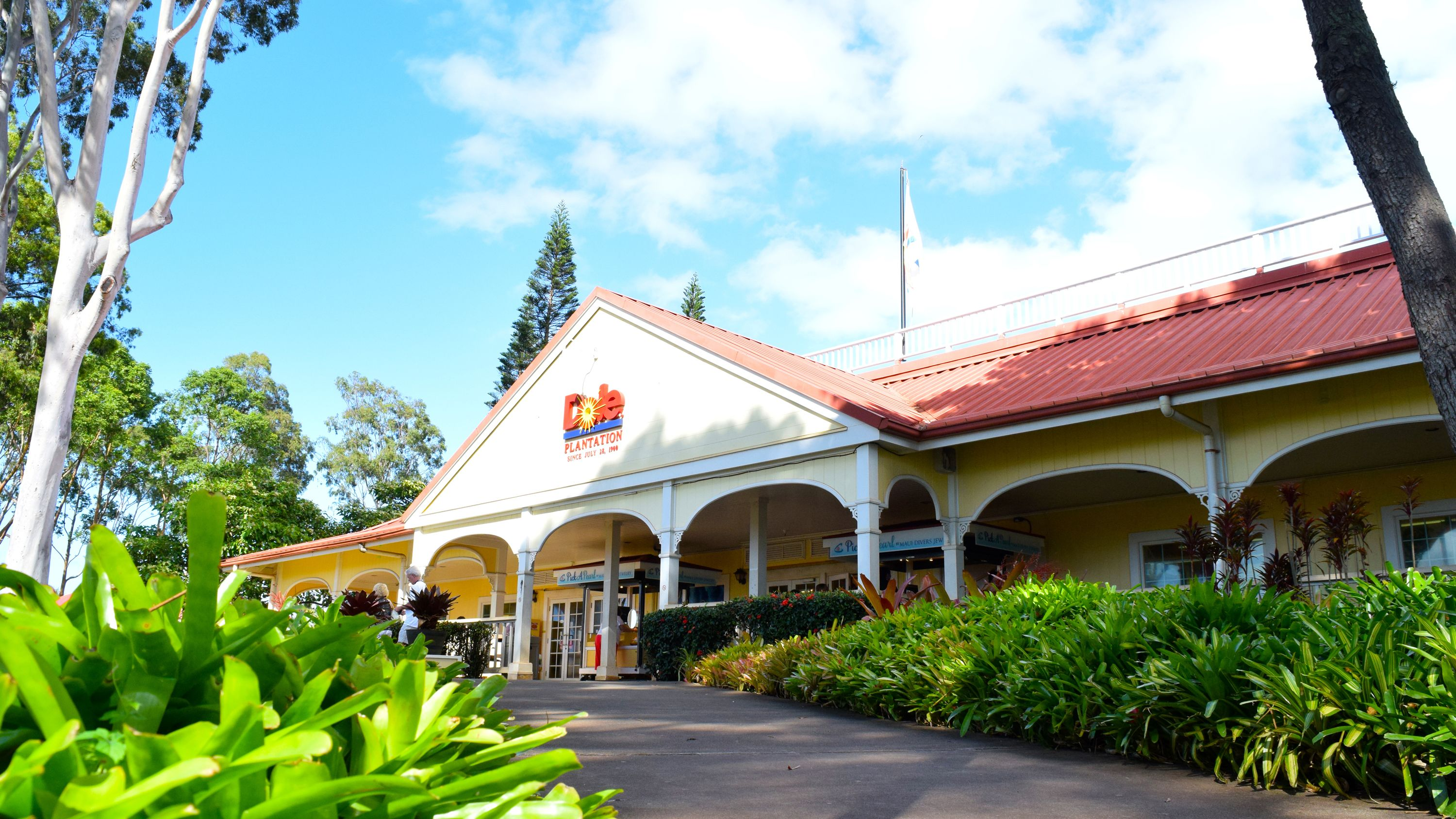 Front of the Dole Plantation