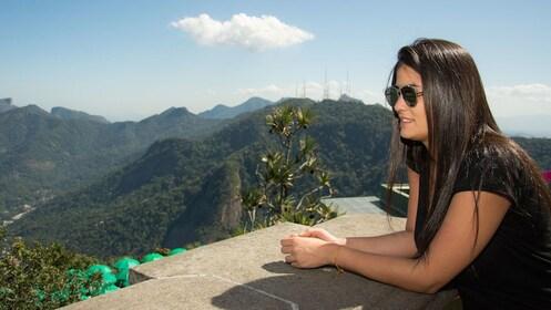 Woman looks out to Rio De Janeiro