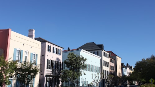 View of buildings during tour of Charleston