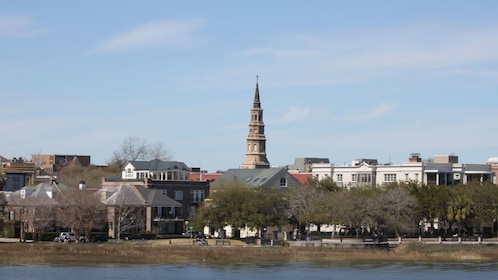 View from the water of city of Charleston