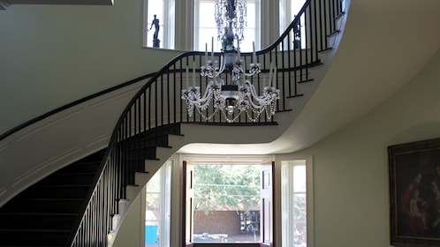 Staircase inside of mansion in Charleston