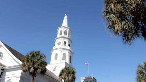 Bell tower on building in Charleston