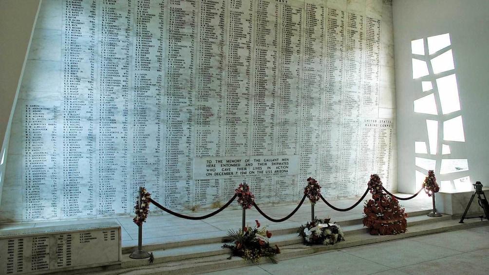 Show item 2 of 9. inside the USS Arizona Memorial in Oahu