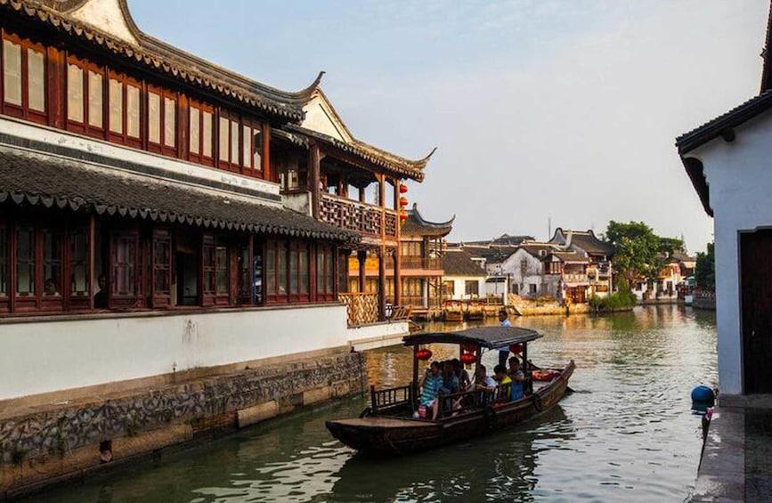 Show item 2 of 10. Zhujiajiao Water Town, Jade Temple, Tianzifang Private Tour