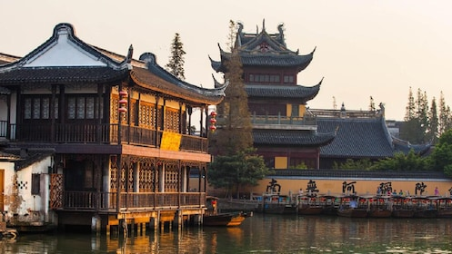 Jade Temple in Shanghai on the water