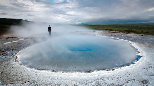 Geyser in the Golden Circle in Iceland