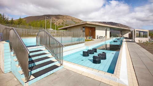 Outdoor pool at a Wellness center in Reykjavik