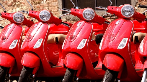 Red Vespas in Florence