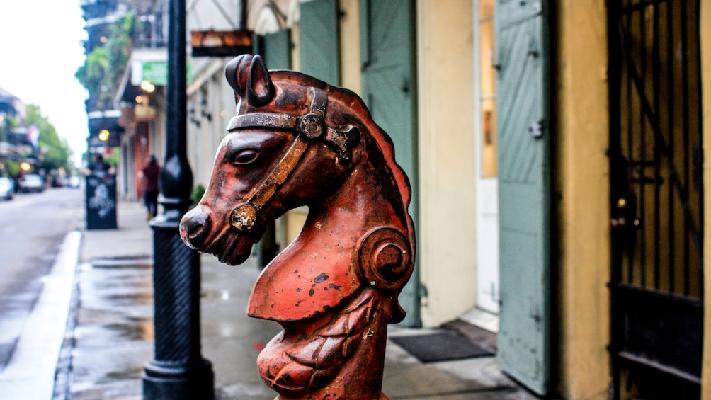 Show item 2 of 5. red horse carving in new orleans