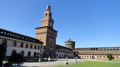 Sforza 's castle in Milan, Italy.