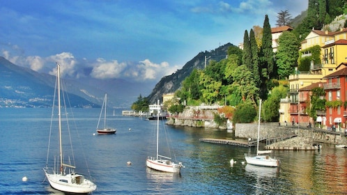 Boats on Lake Como, Itlay