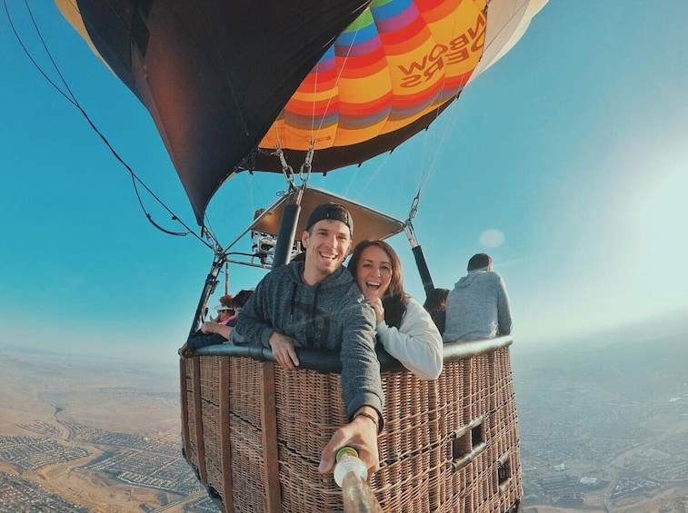 Show item 3 of 7. Sunrise Hot Air Balloon Ride with Champagne Toast & Pastry Breakfast