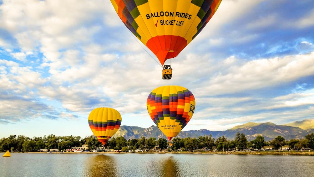 Show item 1 of 7. Sunrise Hot Air Balloon Ride with Champagne Toast & Pastry Breakfast