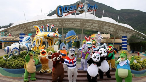 Ocean Park with Mascots