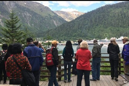 Homestead Park on Douglas Island. Thane the steps down to the beautiful waterfront platform and be awed by the beautiful view of downtown Juneau, snow capped mountains and Gastineau channel