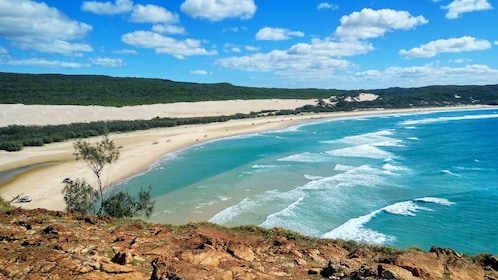 Sandy beach on Fraser Island