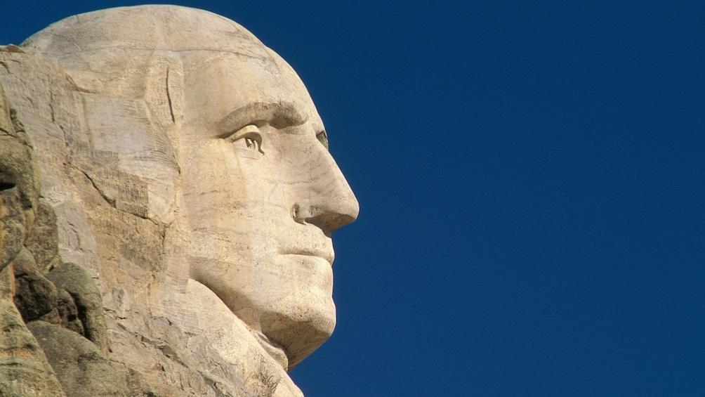 Profile of George Washington from Mount Rushmore