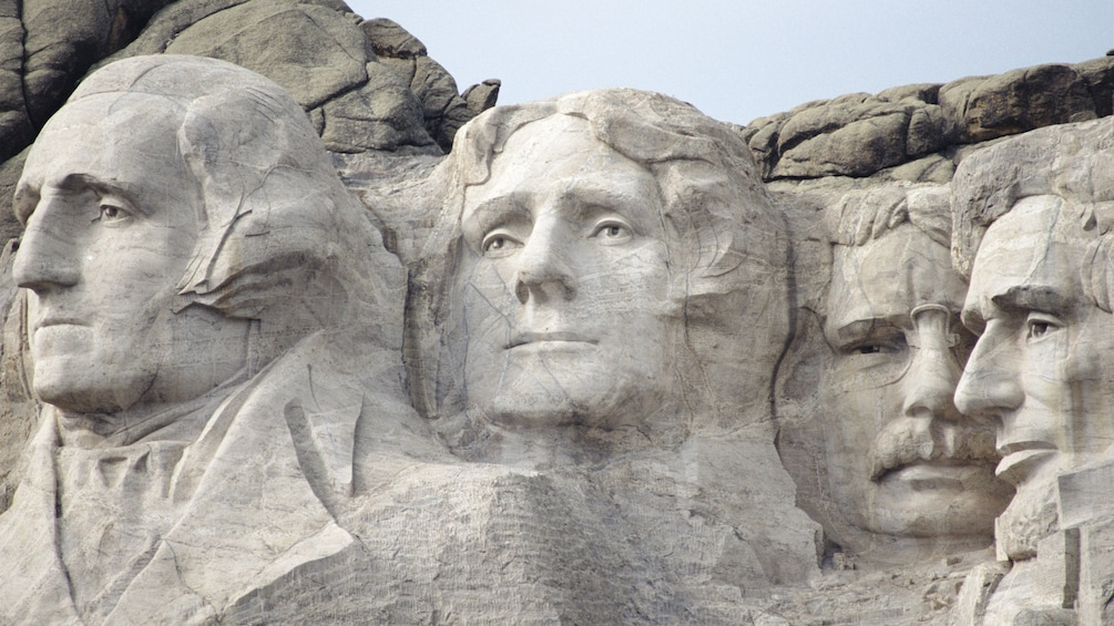 Show item 1 of 7. Close-up of Mount Rushmore