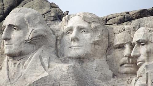Close-up of Mount Rushmore