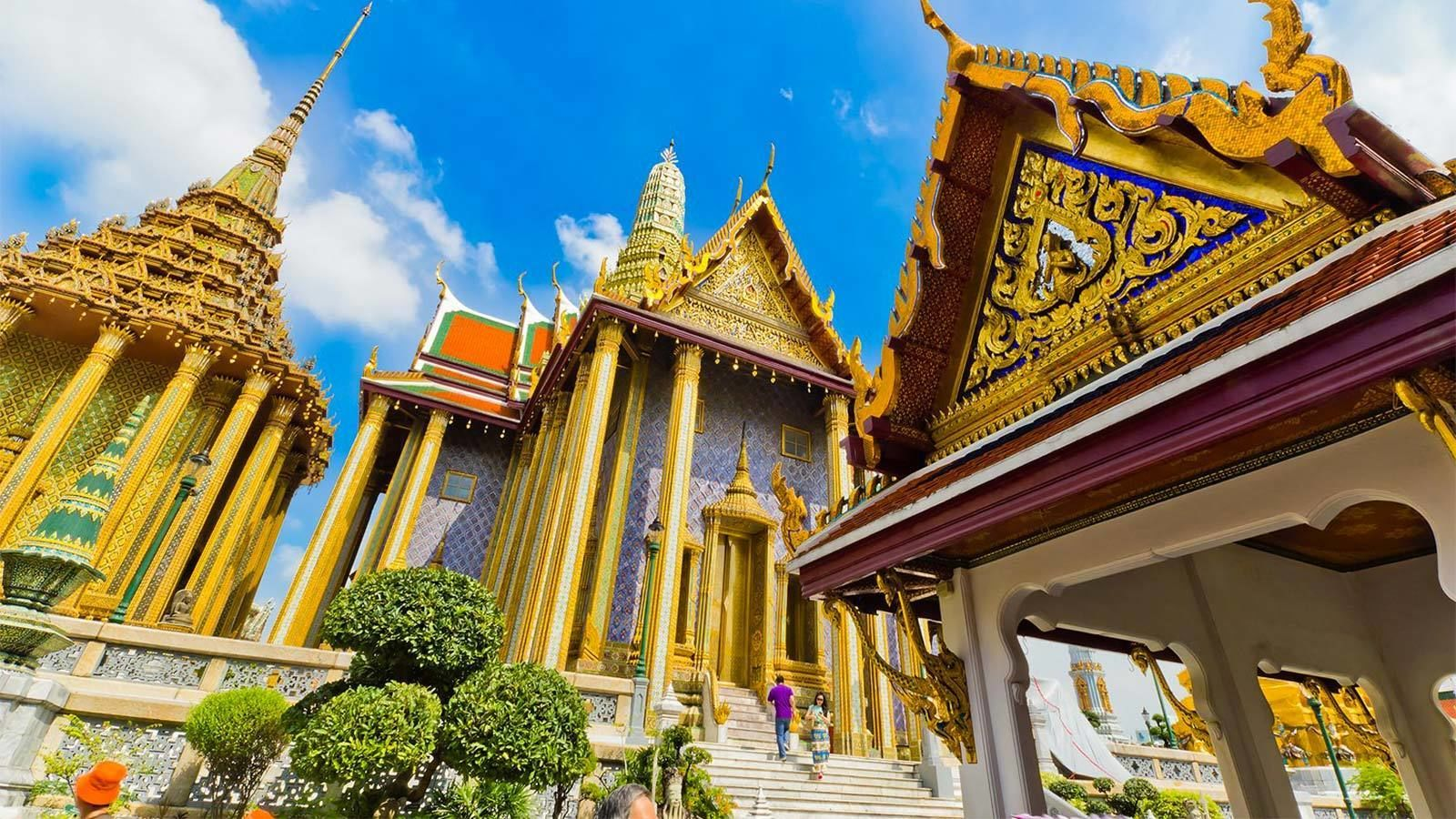 Close view of the Grand Palace in Thailand