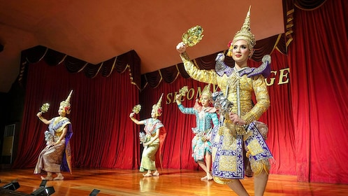 Costumed dancers onstage in Bangkok