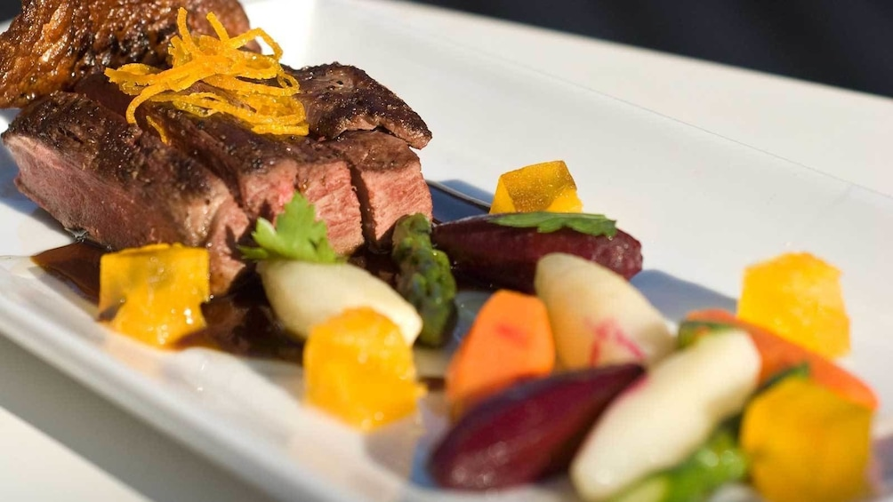 steak with vegetables in Australia