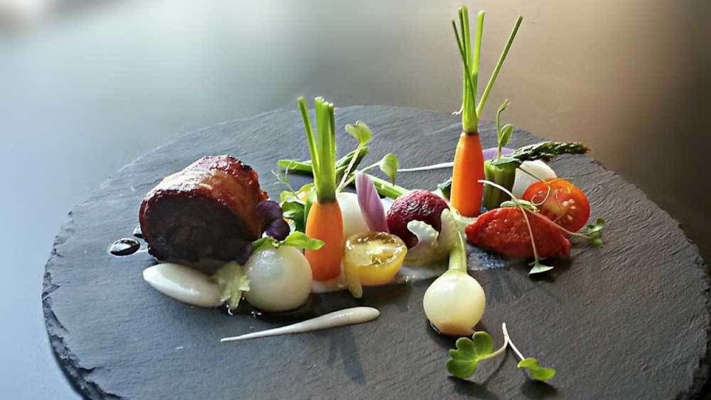 small meat dish with garnish in Australia