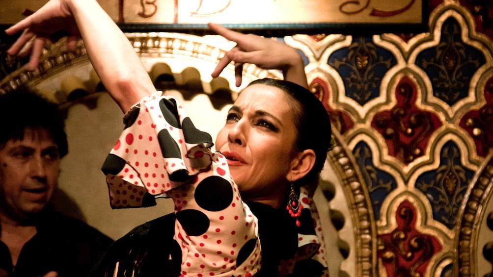Foto 5 von 5 laden Female flamenco dancer performing on stage.