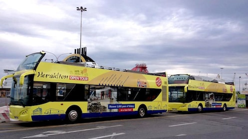 Two Heraklion tour buses