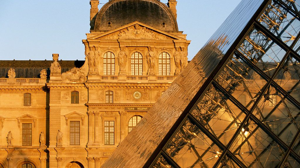 Outside view of the Louvre museum