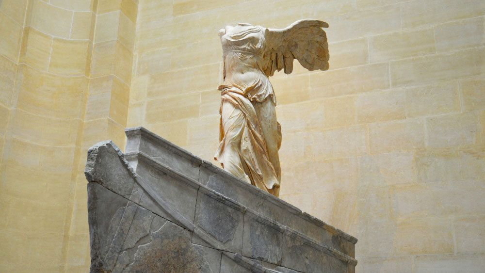 Winged Victory statue in Louvre