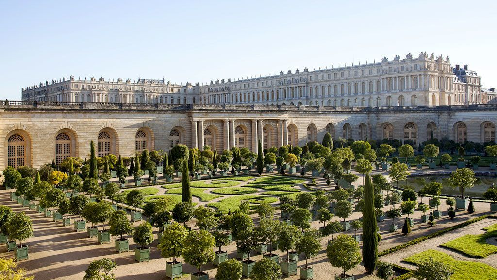 View of Versailles from garden