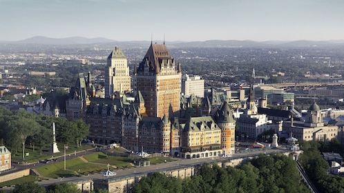 View of an historic hotel in Quebec