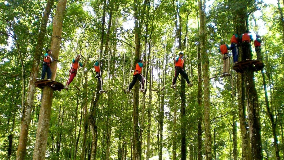 Group activity on the Bali Treetop Adventure Park