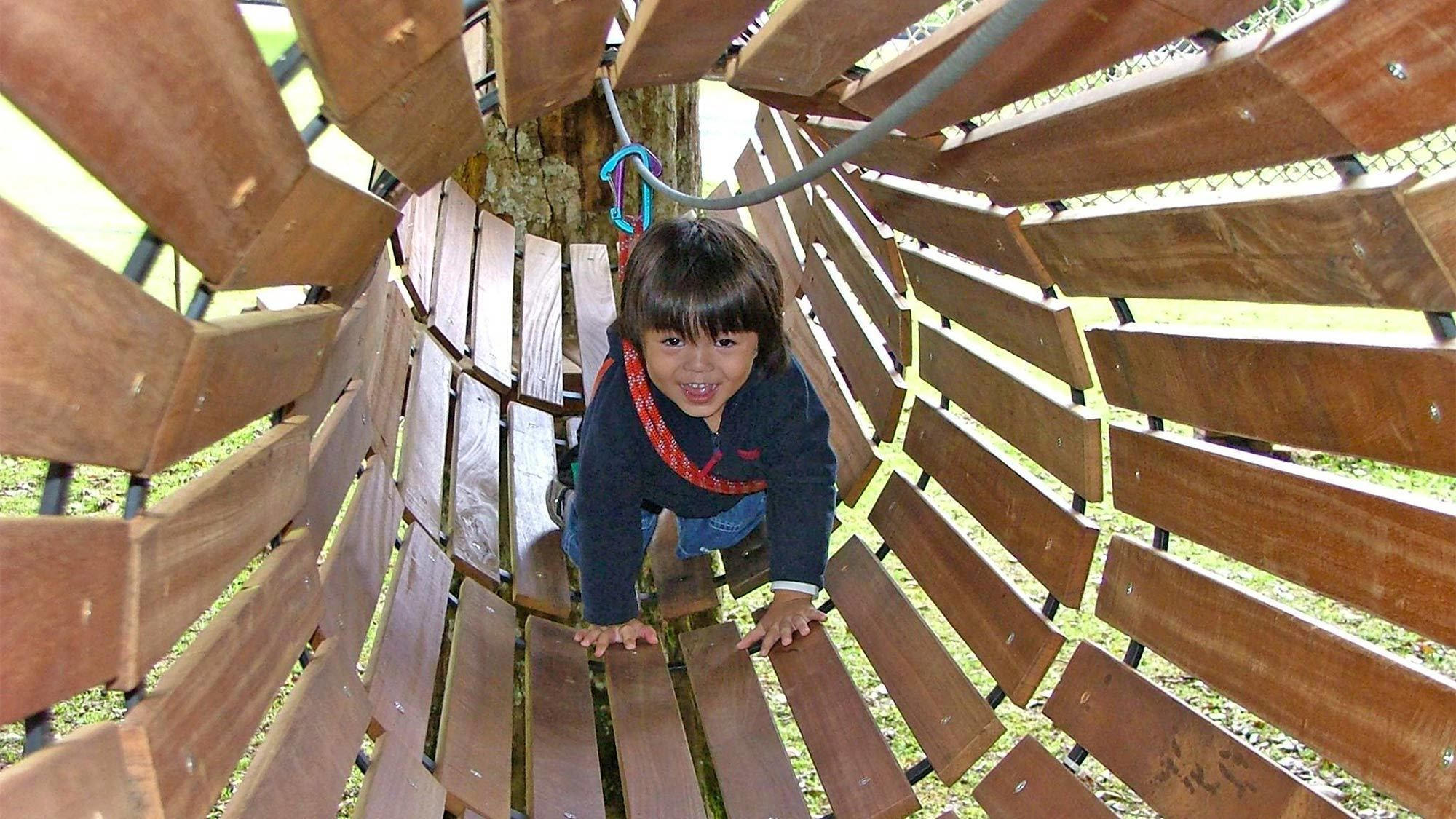 Child playing at the Bali Treetop Adventure Park
