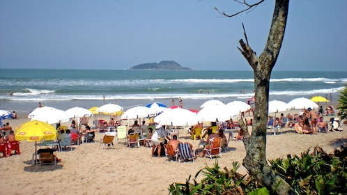 crowded beach in Brazil