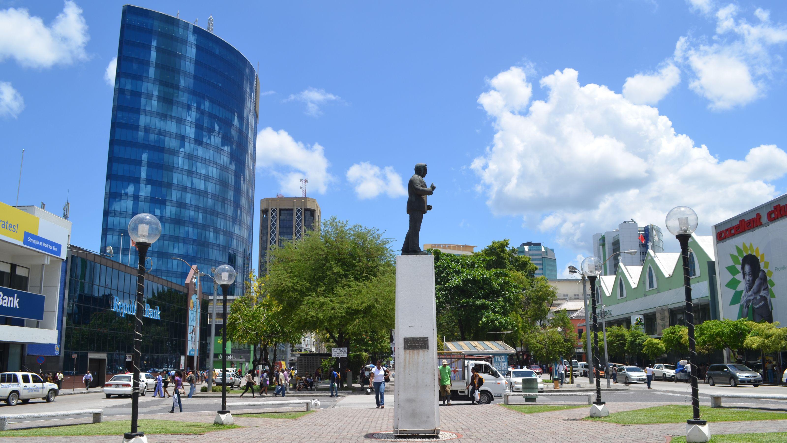 Statue in city of Trinidad