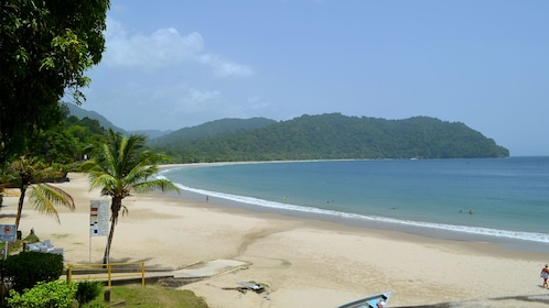 Panoramic view of beach in Trinidad and Tobago