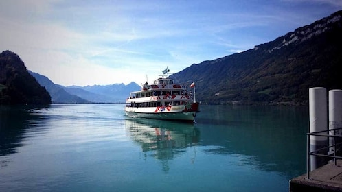 Cruise boat on a lake in Switzerland