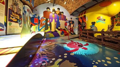 Beatles Yellow Submarine display in London