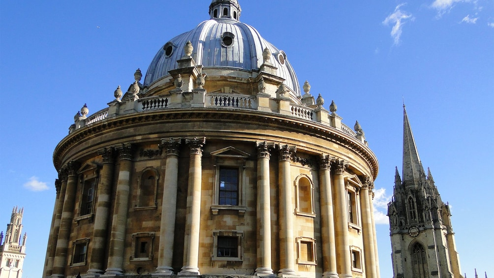 Close up view of the University Church of St Mary the Virgin in London