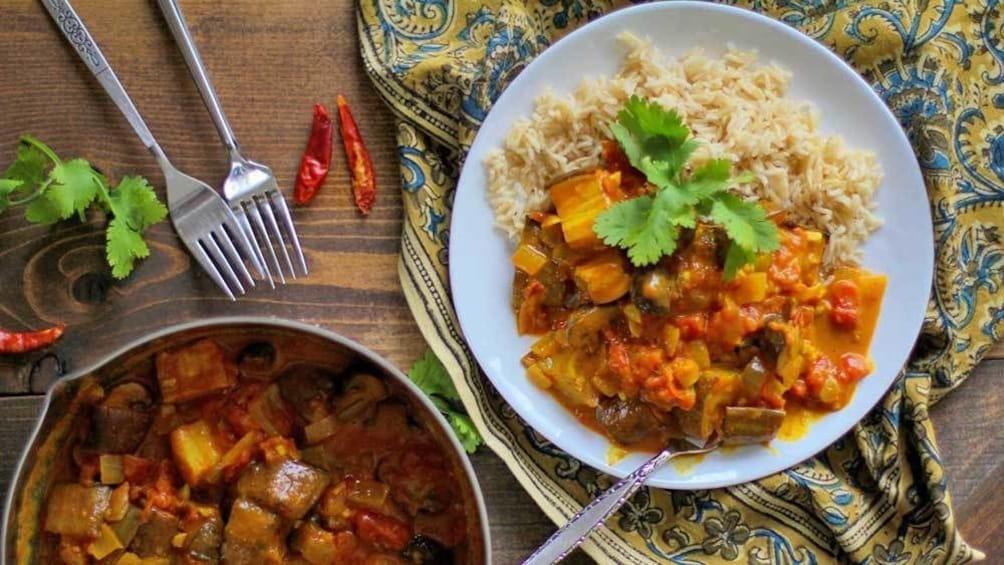 vegetarian curry dish in Australia