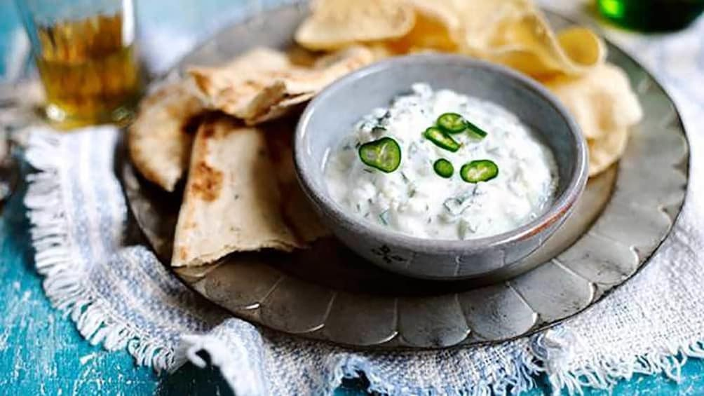 vegetarian pita and yogurt in Australia
