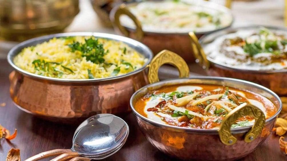 assortment of vegetarian dishes in Australia