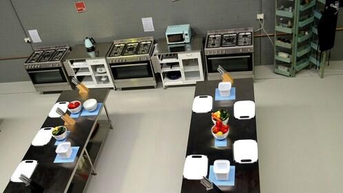 Interior of cooking school
