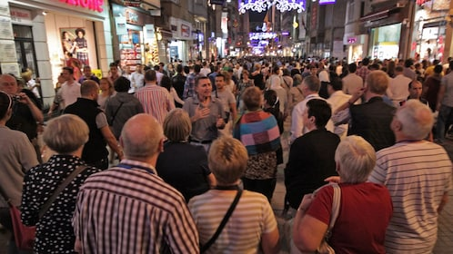 crowded street in istanbul