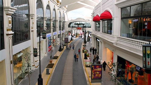 shopping at an indoor mall in Turkey