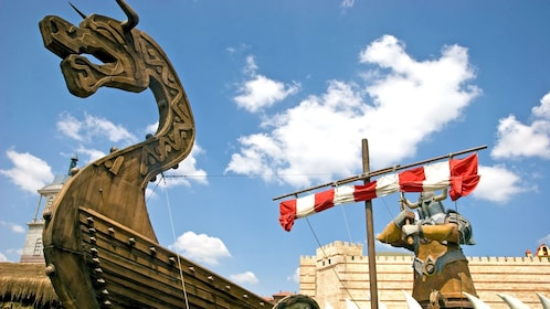 viking ship in a theme park in Turkey