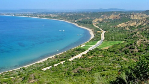 view of the shoreline in Turkey